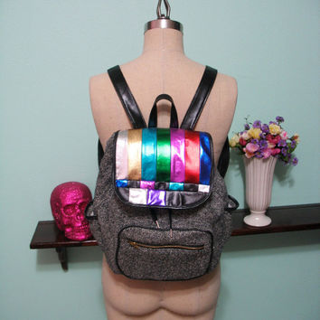 Just A Test - Metallic TV Test Pattern Backpack MADE To ORDER