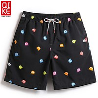 Men Black Game Design Swimming Trunks