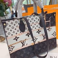 LV painted women's models gods handbags shoulder messenger bag
