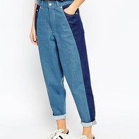 ASOS WHITE Ovoid Mom Jeans at asos.com