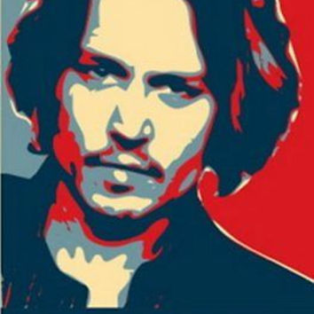 Johnny Depp 19X13 Obama style poster Limited Edition