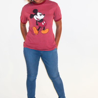 """Vintage 90s Mickey Mouse """"50-50"""" T-Shirt"""