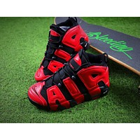 Nike Air More Uptempo QS Black Red Baskerball Shoes 415082-005 Sneaker
