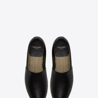 Saint Laurent Espadrille In Black Leather | ysl.com