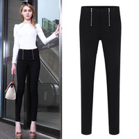 Skinny Pants With Two Zipper Front