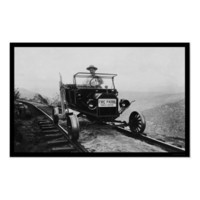 Forest Service Worker in His Patrol Vehicle 1920 Poster from Zazzle.com