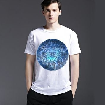 Summer Stylish Casual Strong Character Cotton Men's Fashion Short Sleeve T-shirts [6541802691]
