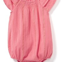 Sparkle Striped Bubble Romper for Baby | Old Navy