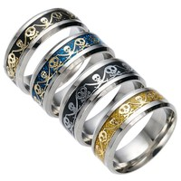 New Arrival Jewelry Shiny Stylish Gift Punk Strong Character Pirate Korean Fashion Ring [10059714499]