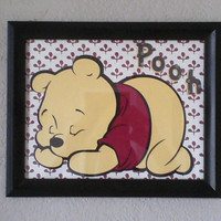 Winnie the pooh wall art by themodpurplecow on Etsy