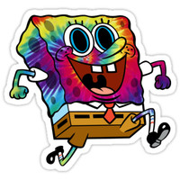 'Trippy SpongeBob' Sticker by Kyee