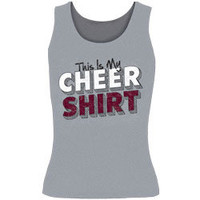 This Is My Cheer Shirt Printed Gray Fitted Tank Top