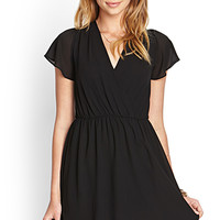 FOREVER 21 Flutter Sleeve Surplice Dress