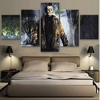 Unframed 5 Panel Friday The 13th Cuadros Decoracion Canvas Wall Art Picture Home Decoration Living Room Canvas Picture Artwork