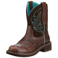 Ariat Fatbaby Womens Western Heritage Dapper Boots: Chocolate