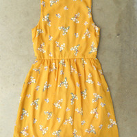 Blooming Canary Dress [3135] - $33.30 : Vintage Inspired Clothing & Affordable Fall Frocks, deloom | Modern. Vintage. Crafted.