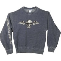 Avenged Sevenfold Men's  Deathbat Sweatshirt Navy