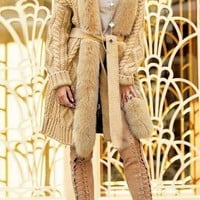 Natalie Cardigan Fur Coat