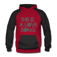 This Is A Love Song Men's Two-Tone Hoodie - Men's Two-Tone Hoodie