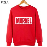 FIZLA New Super Hero Marvel Brand Print Sweatshirts Fashion Men Women Pullover Hot sale in autumn and winter Men's Tracksuits