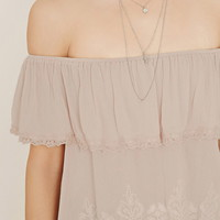Lace Trim Off-the-Shoulder Top | Forever 21 - 2000150979