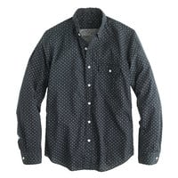 J.Crew Mens Secret Wash Shirt In Crosshatch Print