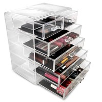 Sorbus® Acrylic Cosmetics Makeup and Jewelry Storage Case Display- 4 Large and 2 Small Drawers Space- Saving, Stylish Acrylic Bathroom Case