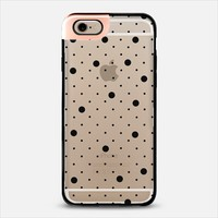 Pin Point Polka Dot Black Transparent iPhone 6 case by Project M   Casetify