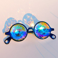 Kaleidoscope Glasses Crystal Rave Fly Bug Eyes Prism Diamond AuroraVizion