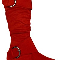 Starry Night Women Boots (Red)
