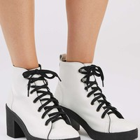 BASIL Lace Up Ankle Boots - Shoes