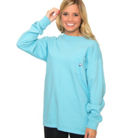 Embroidered Pocket Tee L/S
