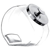 Glass Penny Candy Jars with Chrome Lids - 1 Gallon: 4-Piece Case
