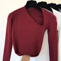 Slim Top Knitted Sweaters