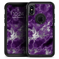 Purple Marble & Digital Silver Foil V5 - Skin Kit for the iPhone OtterBox Cases