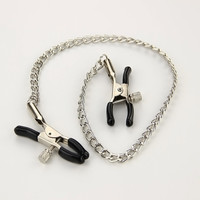 Sexy Nipple Breast Clamps Metal Chain Women Adult Sex Toy for Couples Products Collars Metal Clips Stimulator Teaser Games