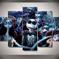 Nightmare Before Christmas Theatre 5-Piece Wall Art Canvas
