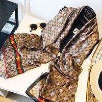 GUCCI New fashion stripe more letter bee print leisure scarf women