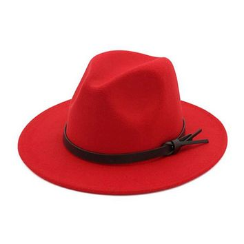 Limited Time Sale! Stunning Wide Brim Red Fedora, Hat