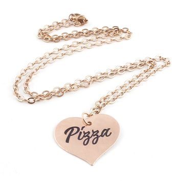 Pizza Heart Pinup Necklace
