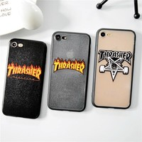 Brand Simple Words Hard skateboard Case For iphone 7 8 6 6s Plus High Quality Cover For iphone X 5s SE Capa Coque Funda case