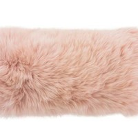 """Blush Longwool Combed Pillow - 11""""x22"""""""