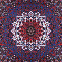 India Star - Red - Tapestry