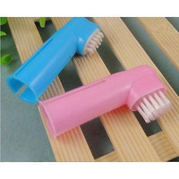 2X Pet Dog Cat Soft Finger Toothbrush Grooming Dental Cleaning Teeth Care Brush