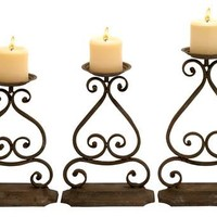 Candle Hold with Elegant Design and Structure - Set of 3