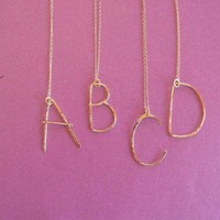 $58.00 letter necklace by bonnieboardman on Etsy