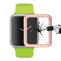 Link Dream 0.2mm 8-9H Surface Hardness Tempered Glass Film with Full-covered Metal Edge for Apple Watch 42mm