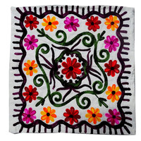 Indian Handmade Suzani Pillow Case, Cushion case  Suzani Cushion Cover, indian decorative case,sofa couch, 16 x 16 in.
