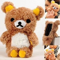 3D Cute Teddy Bear Cool Plush Toy Doll Cover Case For VARIOUS Mobile Cell Phones