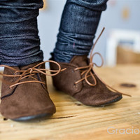 Dapper Brown Suede Shoes - Baby Boy